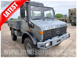 modsurplus - ex military vehicle - Mercedes Unimog U1300L 4x4 Drop Side Cargo Truck - UK Road Registered - MoD Ref: 50385