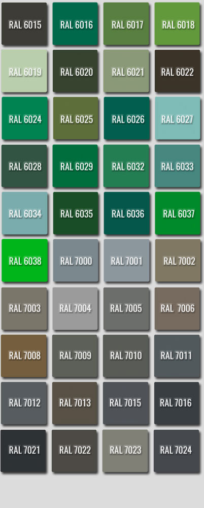 Ral Colours 6015 to 7024